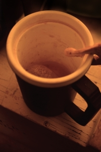 Mug used unwashed for daily cup of tea, soup and whiskey (Nov 2011)