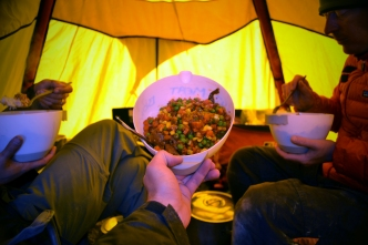 Camp meal (Jan 2013)