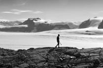Strolling above Mackay Glacier (Jan 2013)